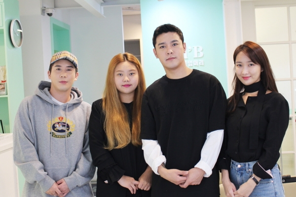 에드비 붙임머리 왼쪽부터 김현우, 김아름다라, 강정모, 윤선화 원장